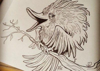 Ptačí črtání #2