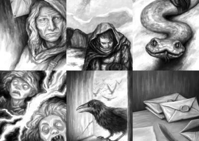Děti vánice - vnitřní ilustrace