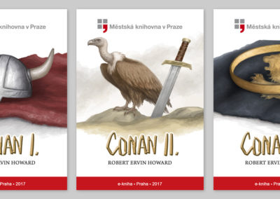 Conan I., II., III. - e-book covers for Municipal Library of Prague