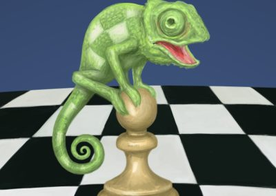Don't be afraid of the Chameleon! - chess book cover