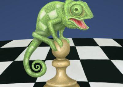Nebojme se chameleona! - obálka šachové knihy