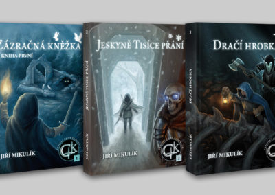 Obálky gamebooků ze série Gabriel Knox Gamebook
