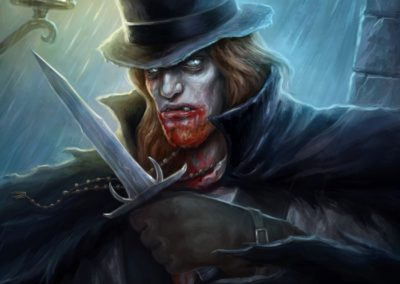 Ravenous Aristocrat - ilustrace pro Sorcerer: A Strategy Card Game