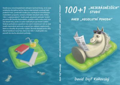 """100+1 """"nejkrásnějších"""" šachových studií aneb """"absolutní pohoda"""" - návrh obálky"""
