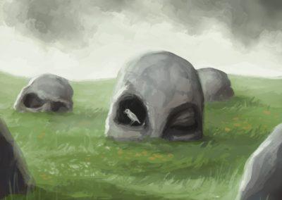 """Místo odpočinku - k tématu """"Kámen"""" na Projektu Ilustrace"""