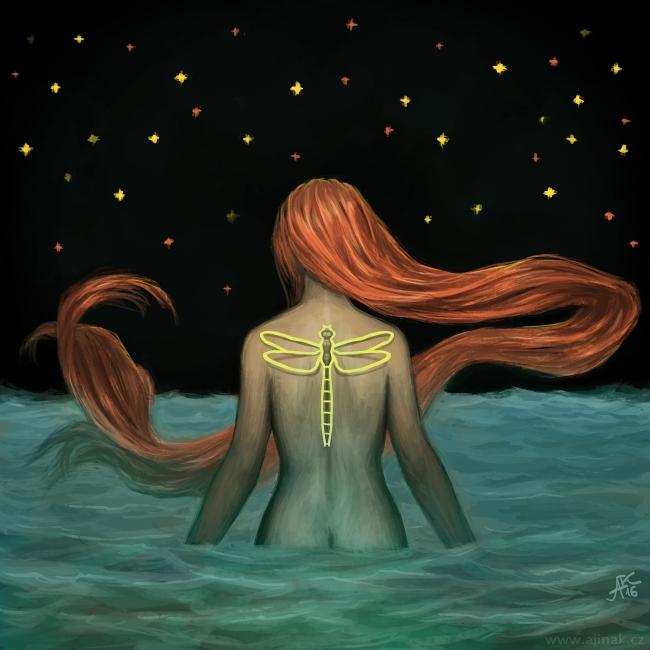 O moři, konci a vážce - ke stejnojmennému tématu na Projektu Ilustrace