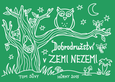 Adventure in Neverland - summer camp t-shirt illustration for TOM Sůvy