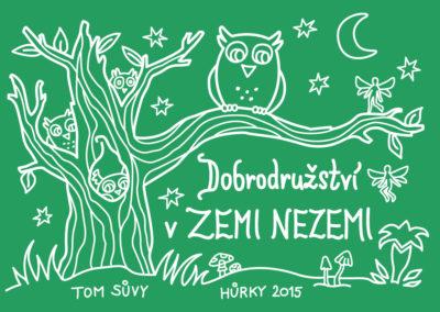 Adventure in Neverland - summer camp t-shirt illustration for TOM Sůvy