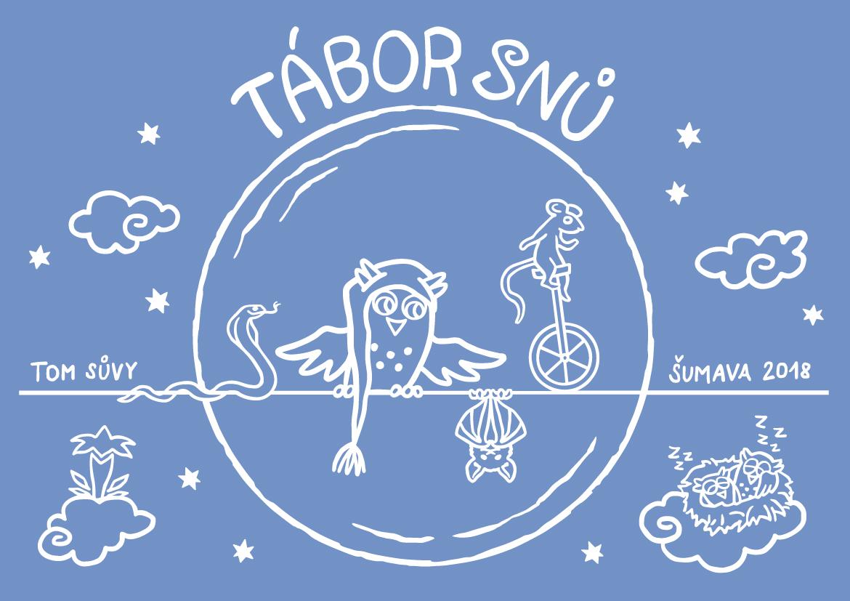 Tábor snů - ilustrace na táborová trička pro TOM Sůvy
