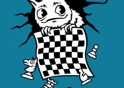 Šachožrout - ilustrace na oddílová trička