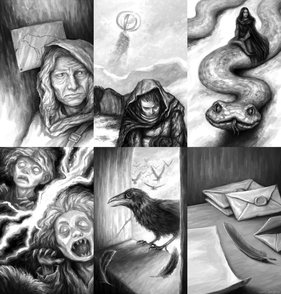 Children of Snowstorm - interior illustrations