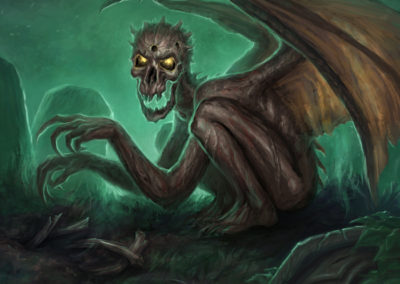 Dread Wight - ilustrace pro Sorcerer: A Strategy Card Game