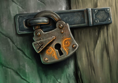 Eldritch Lock - illustration for Sorcerer: A Strategy Card Game