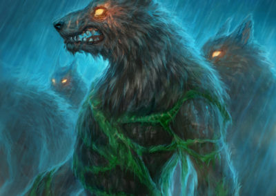 Ferocious Howler - ilustrace pro Sorcerer: A Strategy Card Game