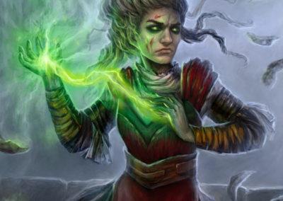 Flourish - ilustrace pro Sorcerer: A Strategy Card Game
