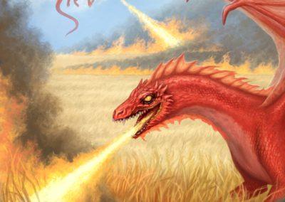 Harvest time - illustration for a dragon calendar 2018