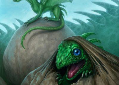 Hatchlings - illustration for a dragon calendar 2016