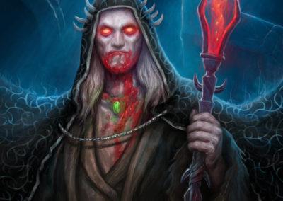 Johann Strahl - ilustrace pro Sorcerer: A Strategy Card Game