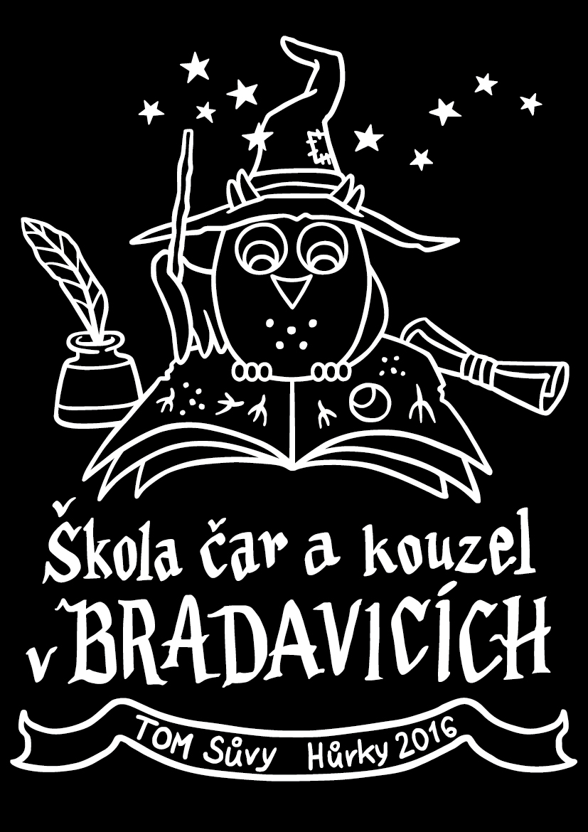 School of Witchcraft and Wizardry in Hogwarts - summer camp t-shirt illustration for TOM Sůvy