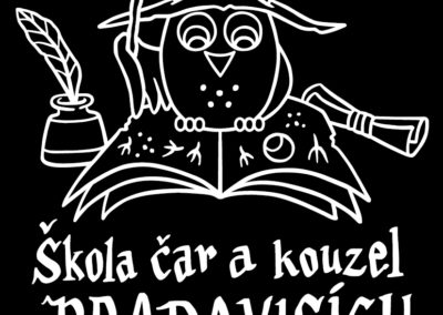 Škola čar a kouzel v Bradavicích - ilustrace na táborová trička pro TOM Sůvy
