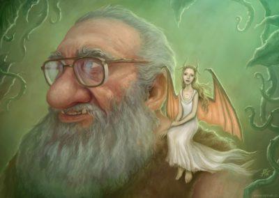 Víla a Trol - malba na zakázku