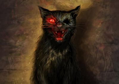 "Černý kocour - k tématu ""Ilustrace k dílu Edgara Allana Poea"" na Projektu Ilustrace"
