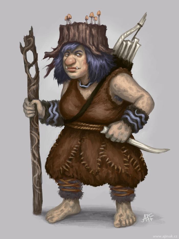 Troll Adventuress - character concept