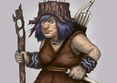 Troll Adventuress - návrh postavy