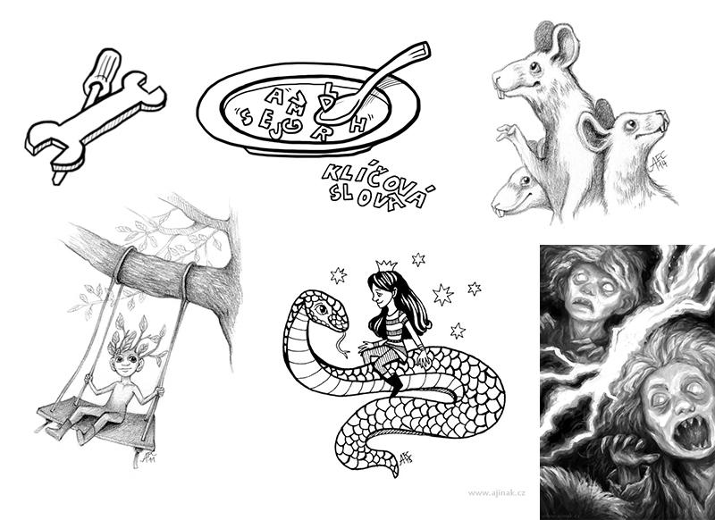 Různé ilustrace z let 2012-2016