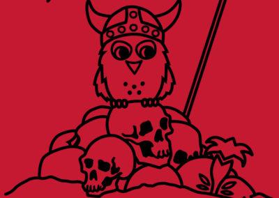 Vikings - summer camp t-shirt illustration for TOM Sůvy