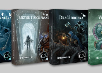 Gamebook covers from Gabriel Knox Gamebook serie