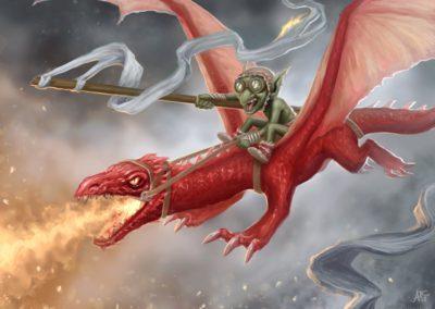"""Létající katastrofa - k tématu """"Červená"""" na Projektu Ilustrace"""