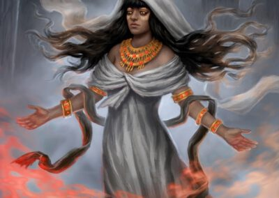 Blessed by Esset - ilustrace pro Sorcerer: A Strategy Card Game