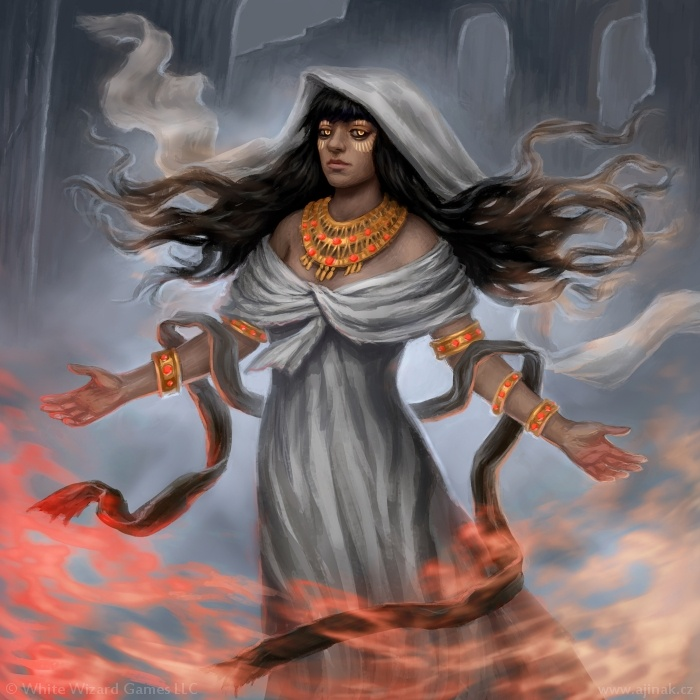 Blessed by Esset - illustration for Sorcerer: A Strategy Card Game