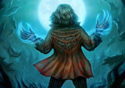 Moonlight Torrent - illustration for Sorcerer: A Strategy Card Game