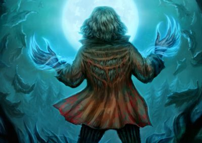 Moonlight Torrent - ilustrace pro Sorcerer: A Strategy Card Game
