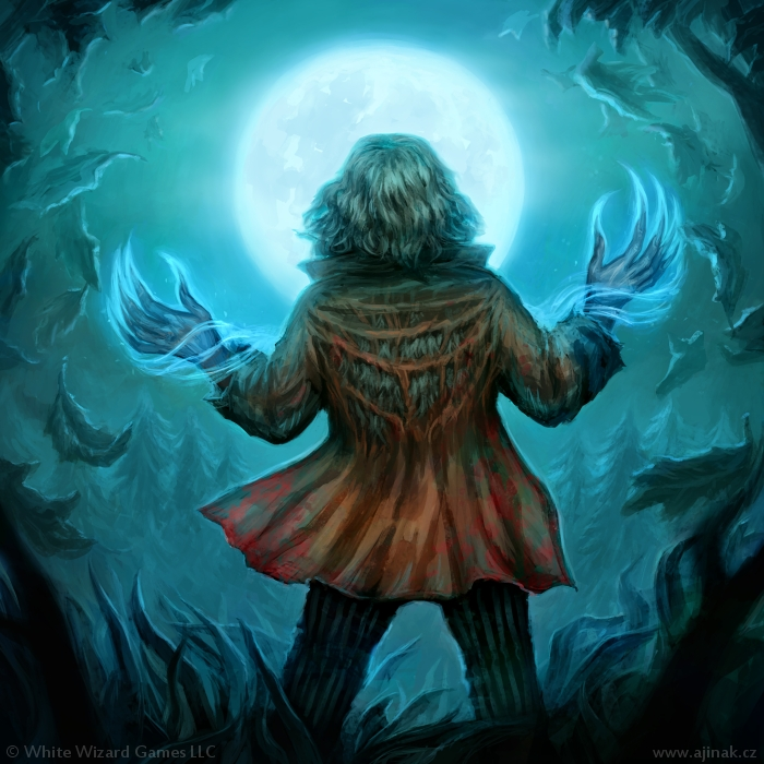 Moonlight Torrent - ilustrace pro Sorcerer: A Strategy Card Game