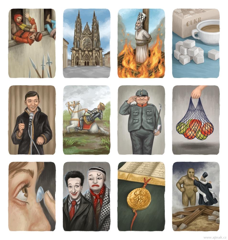 Illustrations for Timeline: Česko (selection)