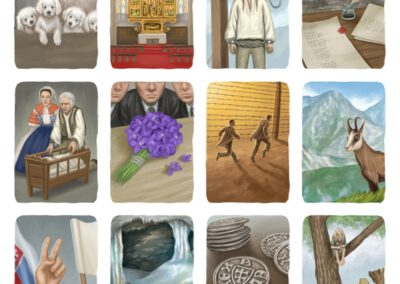 Illustrations for Timeline: Slovensko (selection)