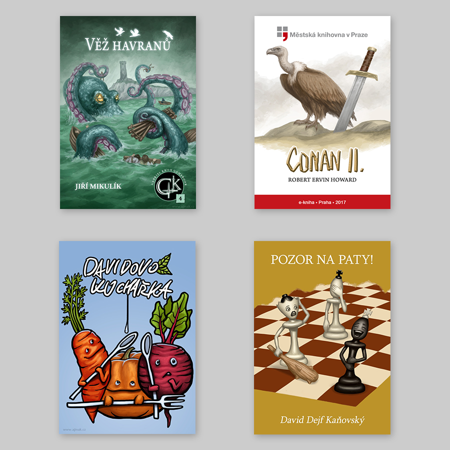 Book covers - illustration and design (selection)