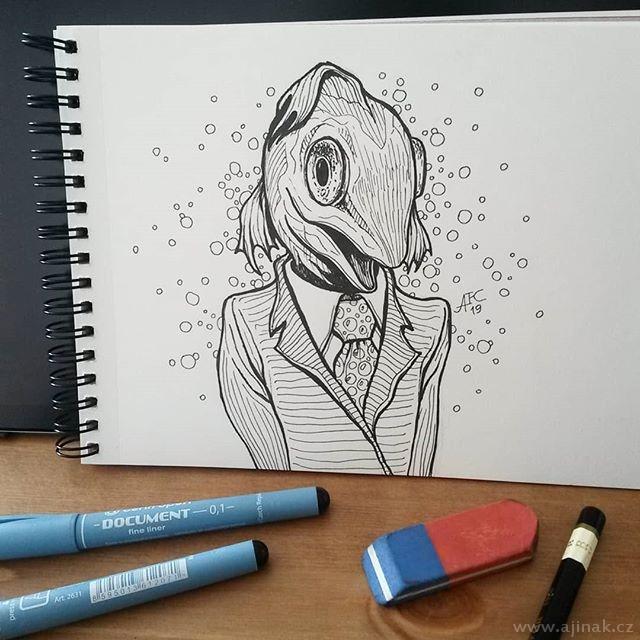 Business fish woman