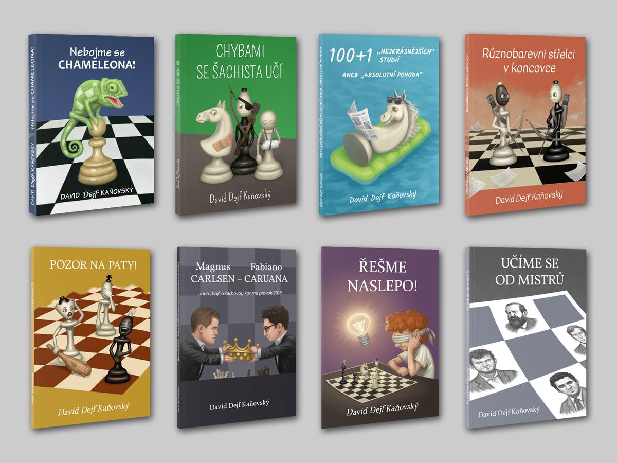 Obálky šachových knih 2016-2019