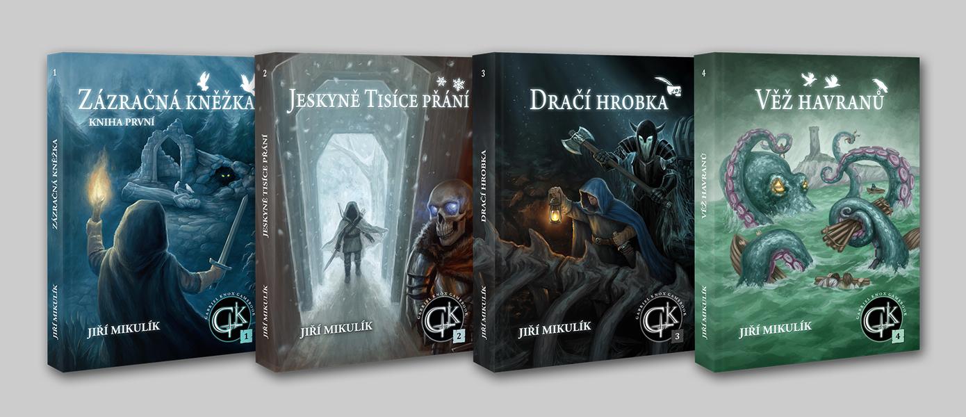 Obálky gamebooků ze série Gabriel Knox Gamebook – náhledy