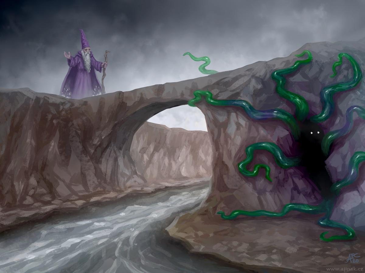 Strážce mostu - ke stejnojmennému tématu na Projektu Ilustrace
