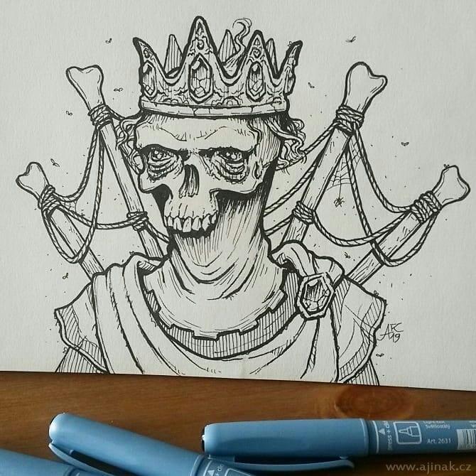 Mage Skull - drawing