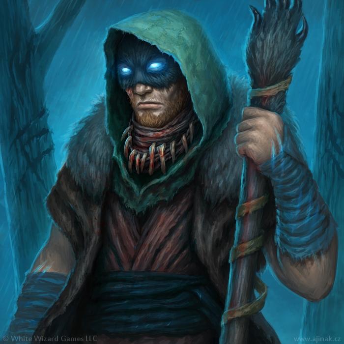 Raganhar - ilustrace pro Sorcerer: A Strategy Card Game
