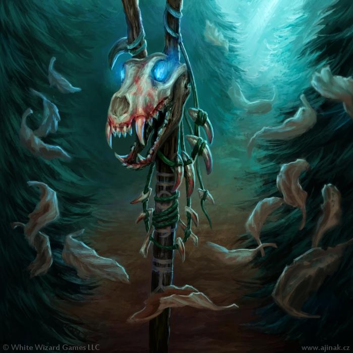 Anathema - ilustrace pro Sorcerer: A Strategy Card Game