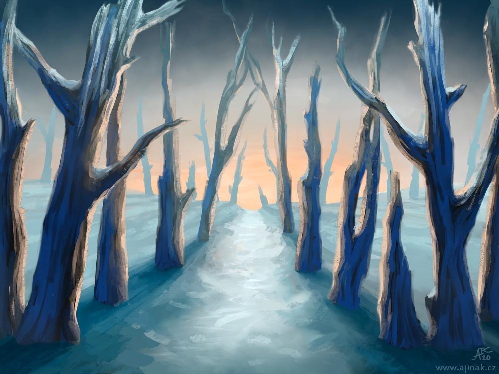Zimní cesta - k tématu