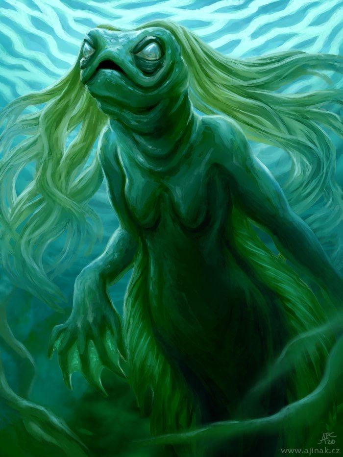 Rybina II. - k tématu 'Mořská panna' na Projektu Ilustrace