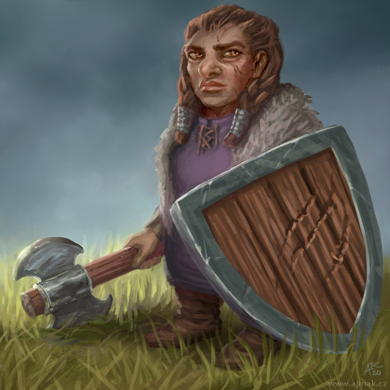 Done for Czech illustration project, monthly topic: Female dwarf.